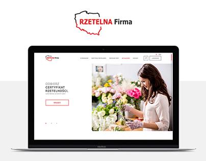 Website for Rzetelna Firma