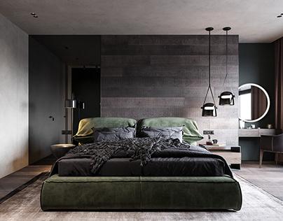 Design project apartments in St. Petersburg_2 (bedroom)