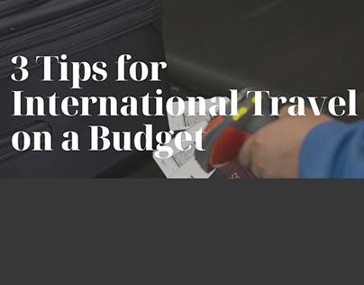 Robert Vowler | 3 Tips for Cheap International Travel
