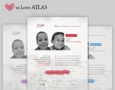 We Love ATLAS - Fundraising website & logo design