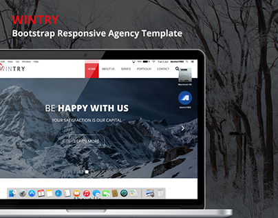 WINTRY - Bootstrap Responsive Agency Template(Free PSD)
