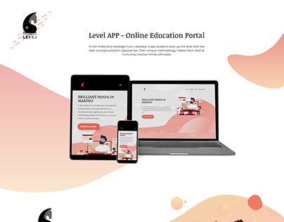 Level App Website Design