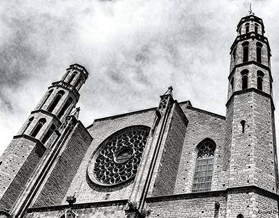 Santa Maria del Mar Barcelona - B&W