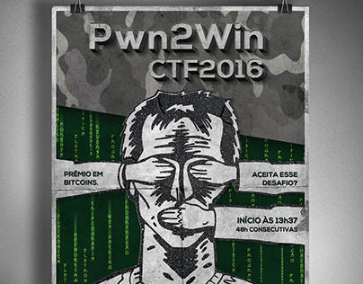 Cartaz Pwn2Win CTF2016
