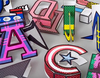 Superhero Caps: Paper Toy