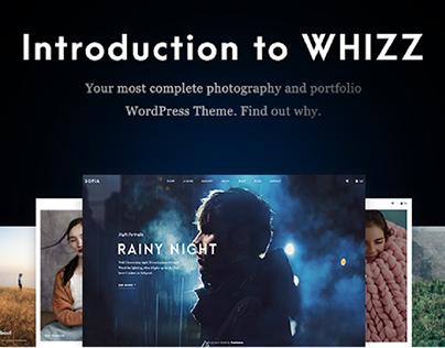 Whizz - Responsive Photography Portfolio WordPress Them