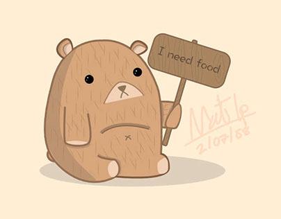 Little bear name Beariful need a food