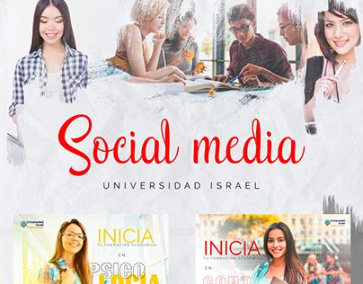 SOCIAL MEDIA - UNIVERSITY ISRAEL 2019