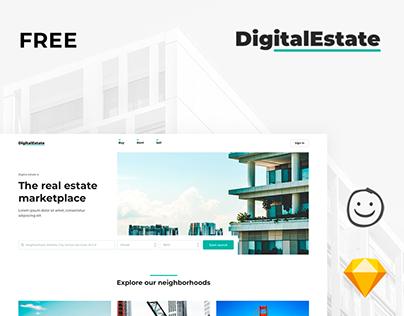 DigitalEstate - Free sketch & ux designs marketplace
