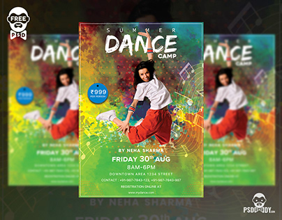 Dance Camp Flyer Free PSD Template