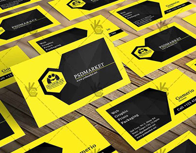 Yellow&Black Business Card – Free PSD Template