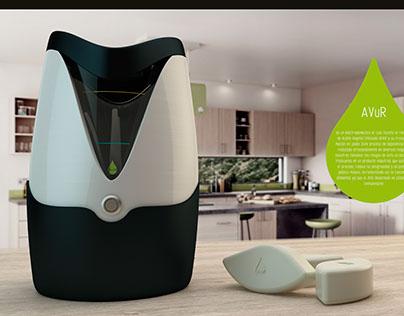 Electrodoméstico para reciclaje aceite usado.