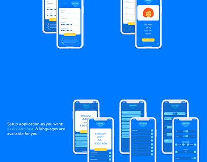 Step Tracker Mobile App UI UX Kit