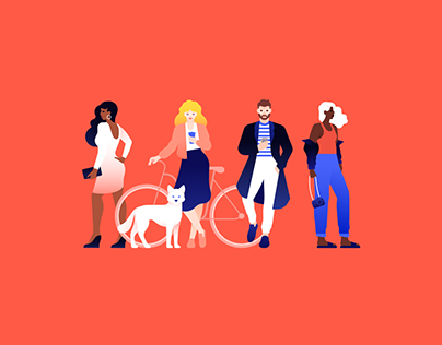 Mercari UK brand illustrations