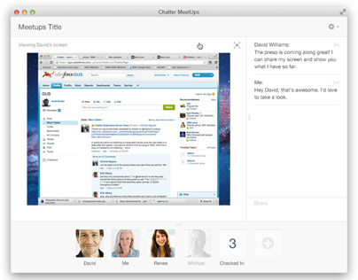 Salesforce: Real Time (Meetups & Chat)