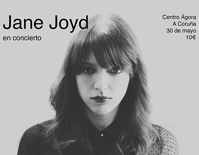 Concert poster design for design course