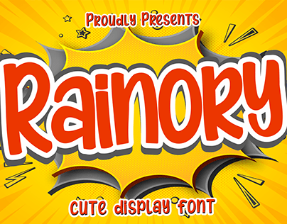 FREE FONT II Rainory Fun Display