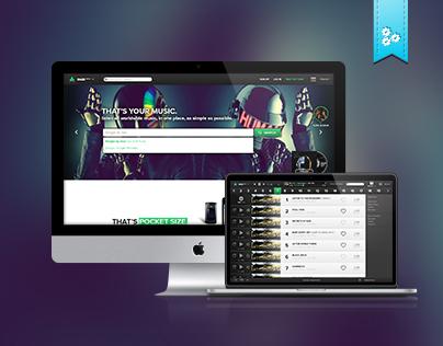 Daze track - Music Player UX Prototype