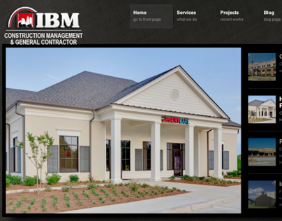 IBM Construction Management website design