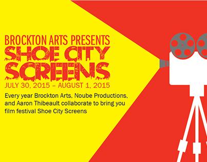 Brockton Arts - SHOE CITY SCREENS Flyer & Poster