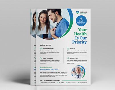 Medical Flyer Template Design