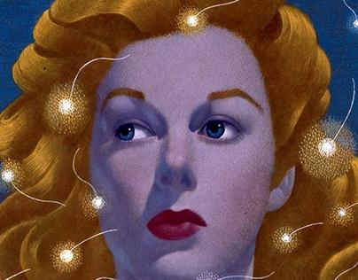 Art Work :: hollywood movie stars woman portrait