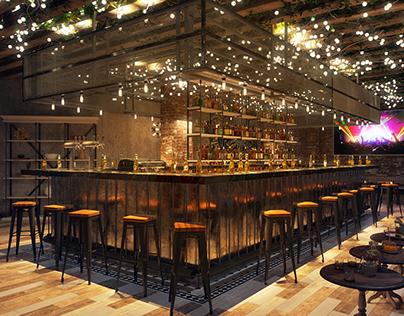 Bar loft style 01 floor