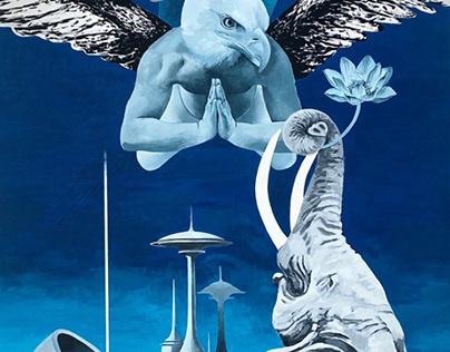 «Lusy in the Sky with Diamonds»  102 х 203 Acryl/canvas