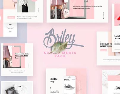 BRILEY - FREE SOCIAL MEDIA PACK