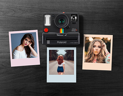 Free Polaroid Photo Collage Mockup PSD