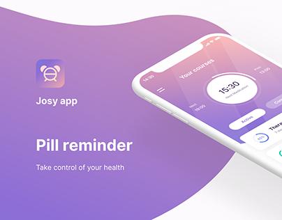 Josy - Pill reminder app design