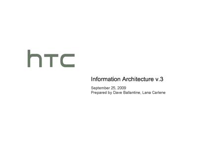 HTC.com site redesign