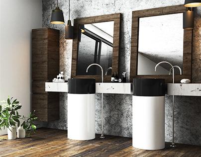 Bathroom modern interior design by AIR Studio