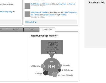 Real Networks Facebook Application Design Exploration