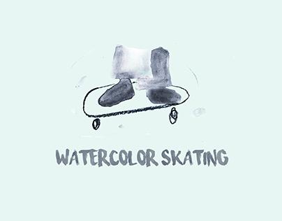 WATERCOLOR SKATING // STOP MOTION