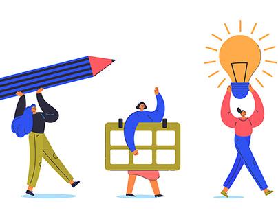 Illustration for time management concept