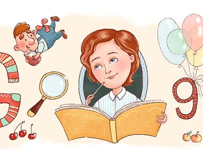 Google-Doodle-Women, Astrid Lindgren