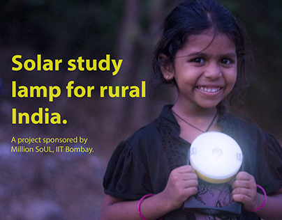 Solar study lamp for rural India