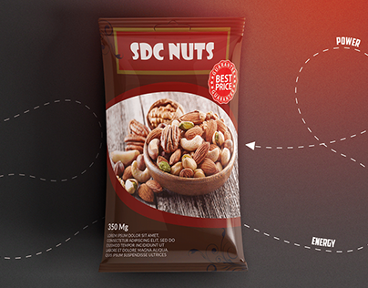 "Dried Fruits ""SDC NUTS"" Packaging Design"