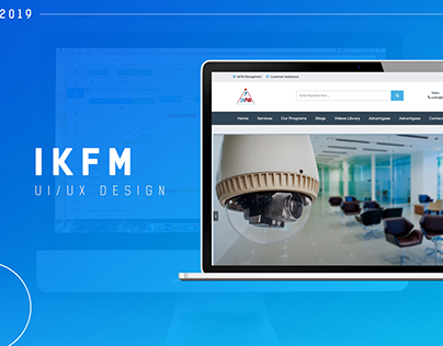 IKFM Website - UI Design