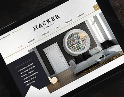 Hacker hipster web