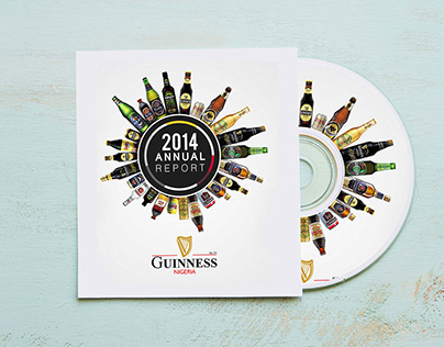 Guinness Annual Report cover design