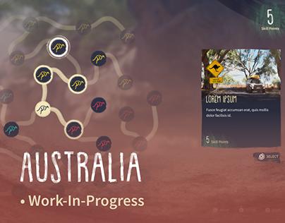 Australia - WIP Fictional Game UI