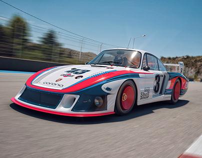 Porsche 935 Moby Dick CGI