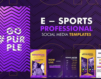 E - Sports Social Media Content