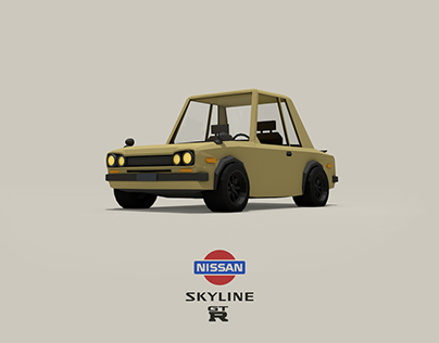 Nissan Skyline GT-R | Low Poly