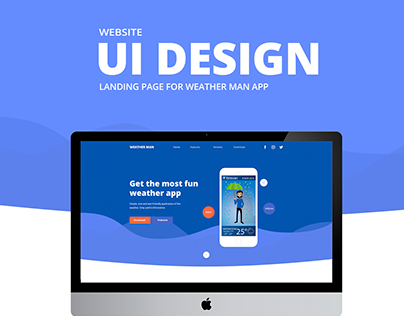Website UI design for Weather Man app