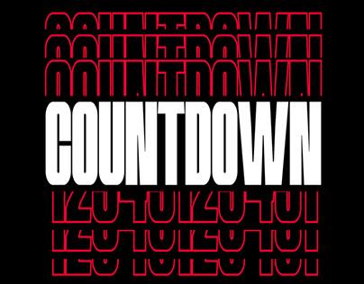 COUNTDOWN Kinetic Typo