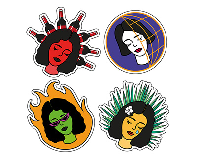 Girls stickers