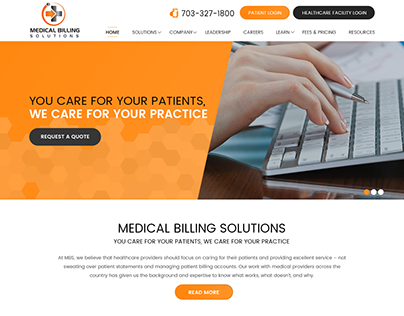 MEDICAL BILLING-Webdesign for Medical Solutions Company